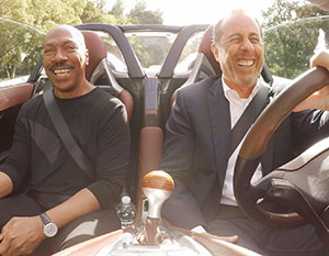 Jerry Seinfeld and Eddie Murphy in Comedians in Cars Getting Coffee.