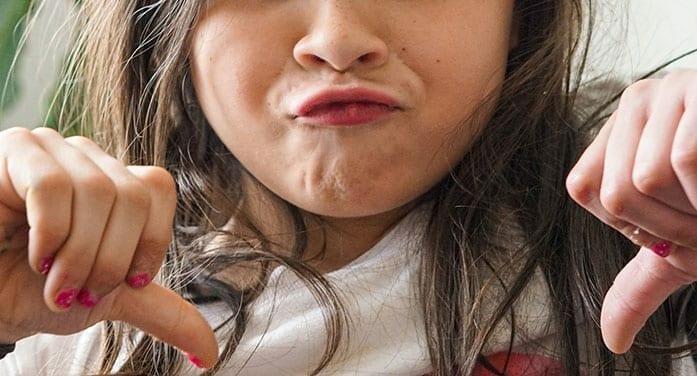no frown sad girl