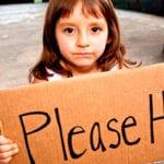 Girl asking for help