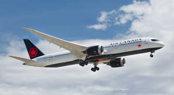 air canada airplane