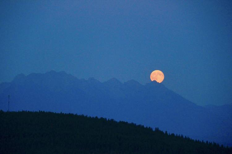 Once in a blue moon in the Kimberley, B.C., region.